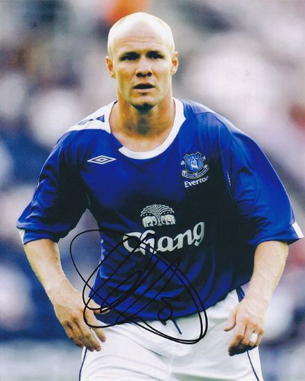 Andy Johnson, Everton & England, signed 10x8 inch photo.